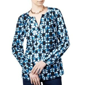 Tommy Hilfiger Women's Printed Long Sleeve Blouse